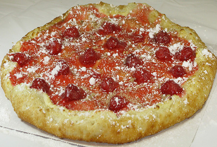 Cherry Streusel Dessert Pizza
