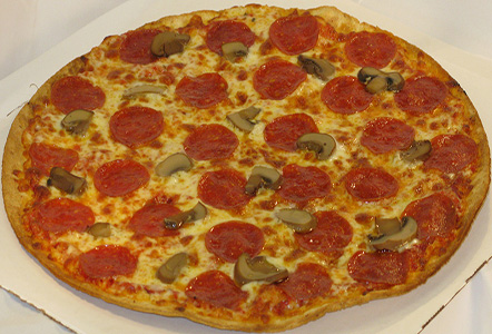 Thin Crust Pepperoni and Mushroom